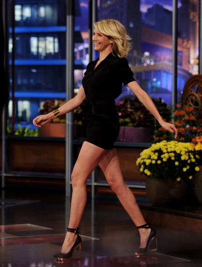 Cameron Diaz wore a LBD on The Tonight Show.
