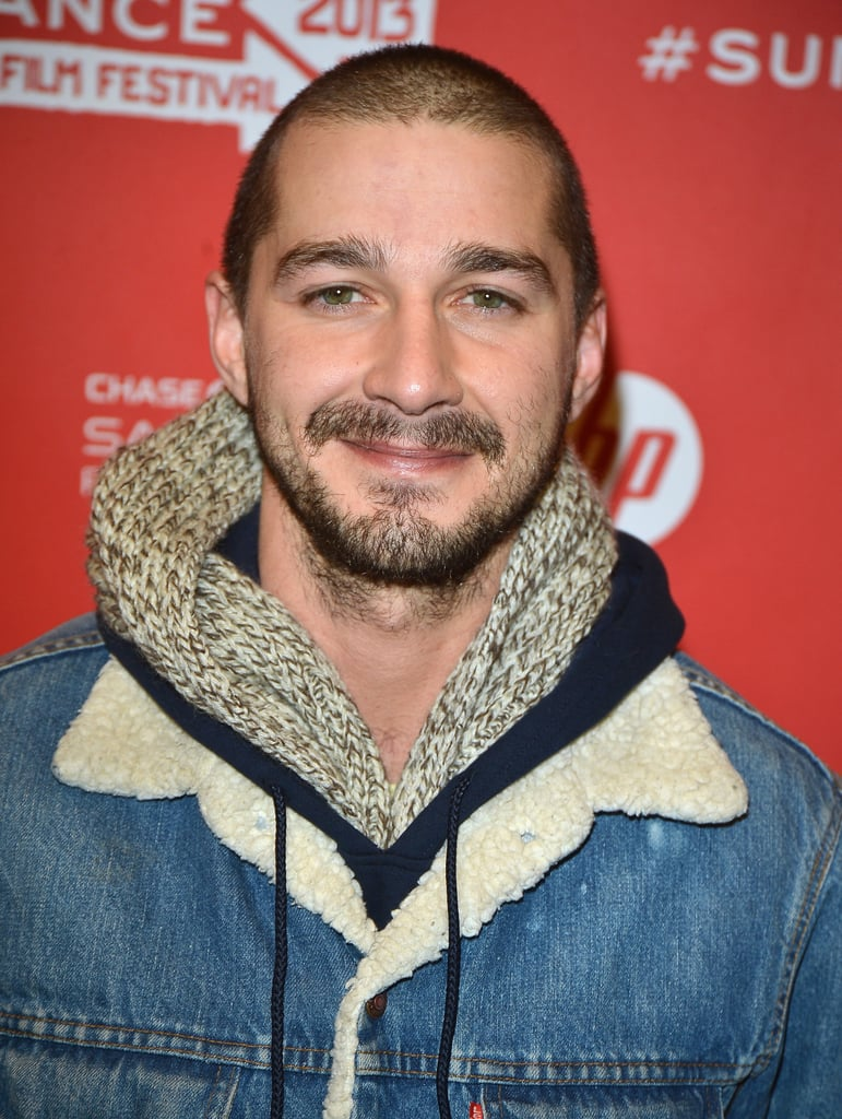 Shia LaBeouf smiled on the red carpet.