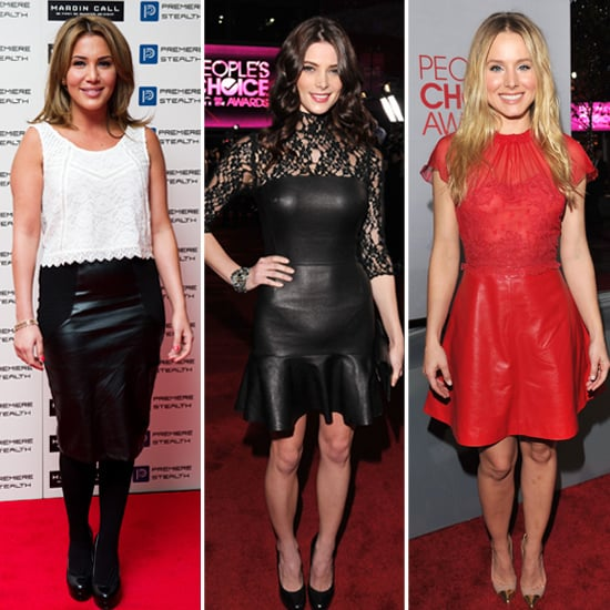 Ashley Greene and Kristen Bell Style in Leather and Lace