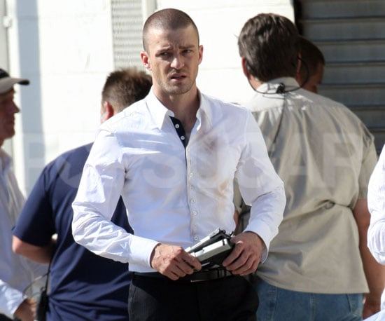 Slide Picture of Justin Timberlake Filming in LA 2010-10-27 15:15:00
