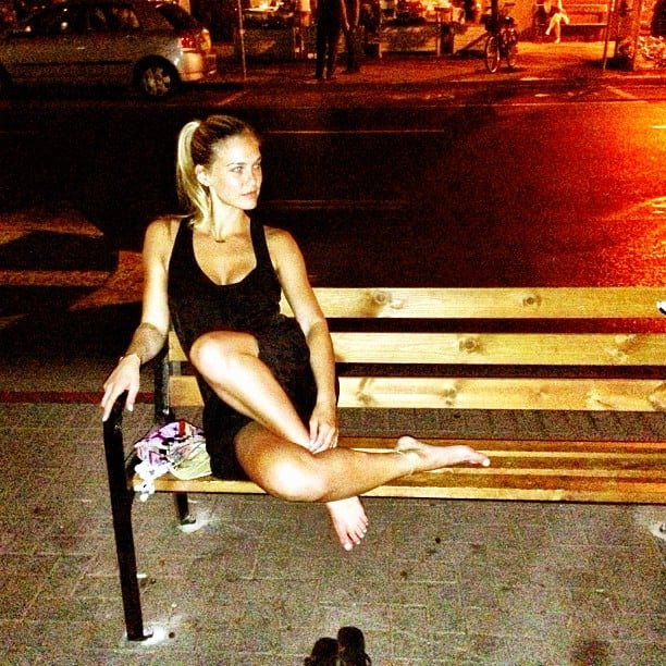 Bar Refaeli sat pretty during a night out in her hometown of Tel Aviv, Israel. Source: Instagram user barrefaeli