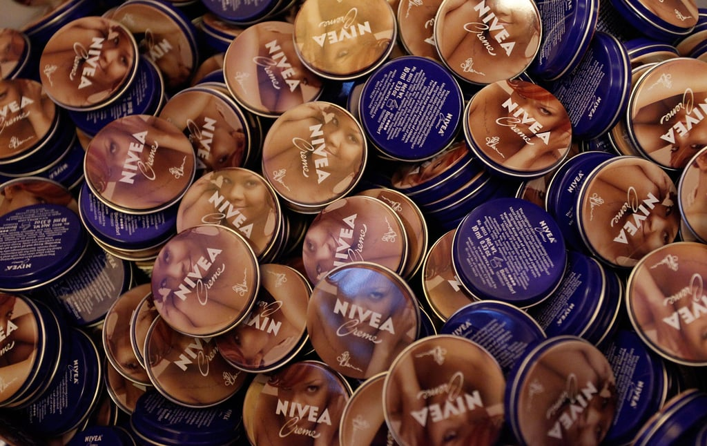 Rihanna was named as the official voice of Nivea's anniversary, and visitors to the exhibit can enter to win tickets to a show during her Loud tour. Her face is featured on these limited-edition tins.