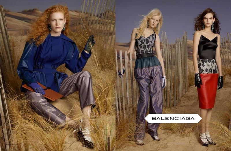 Balenciaga embarks on a space cowboy mission via its Fall '12 campaign.