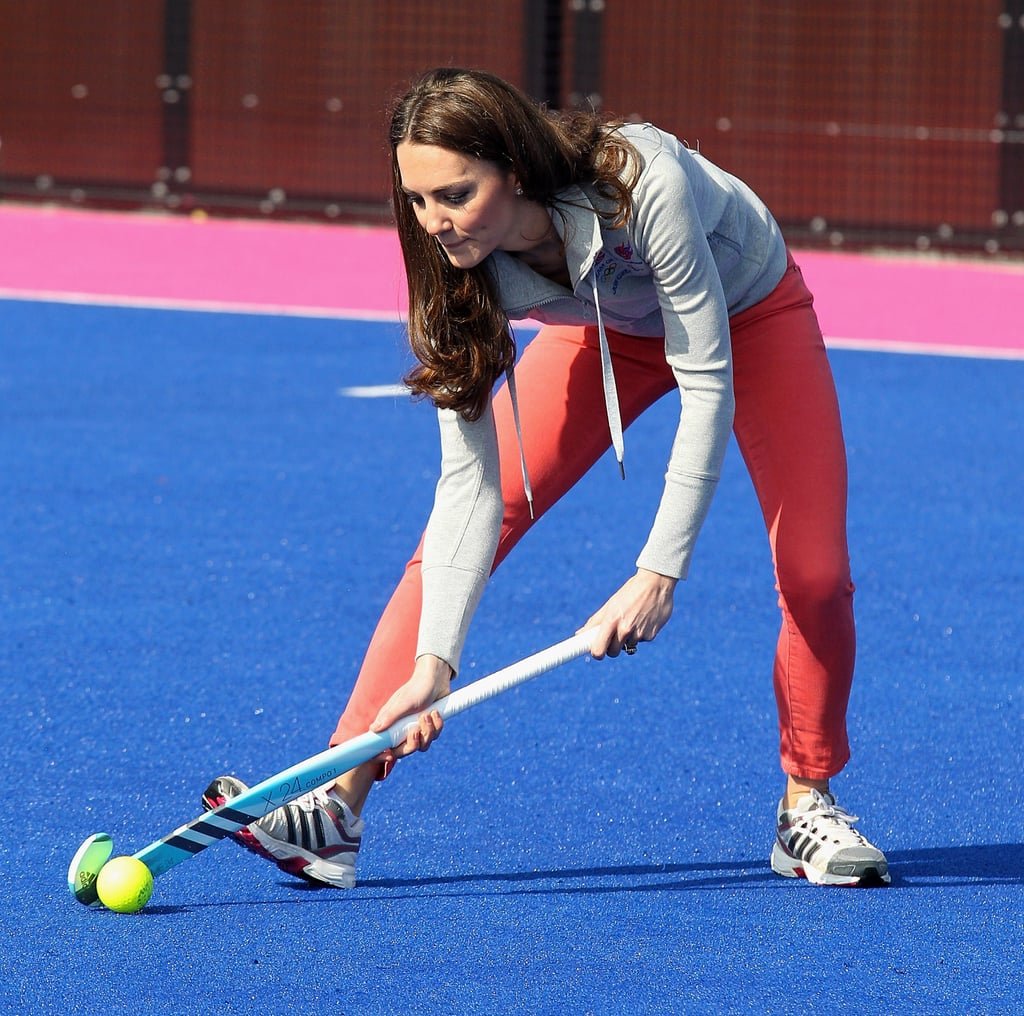 Kate Middleton shows off her skills in London's Olympic Park.