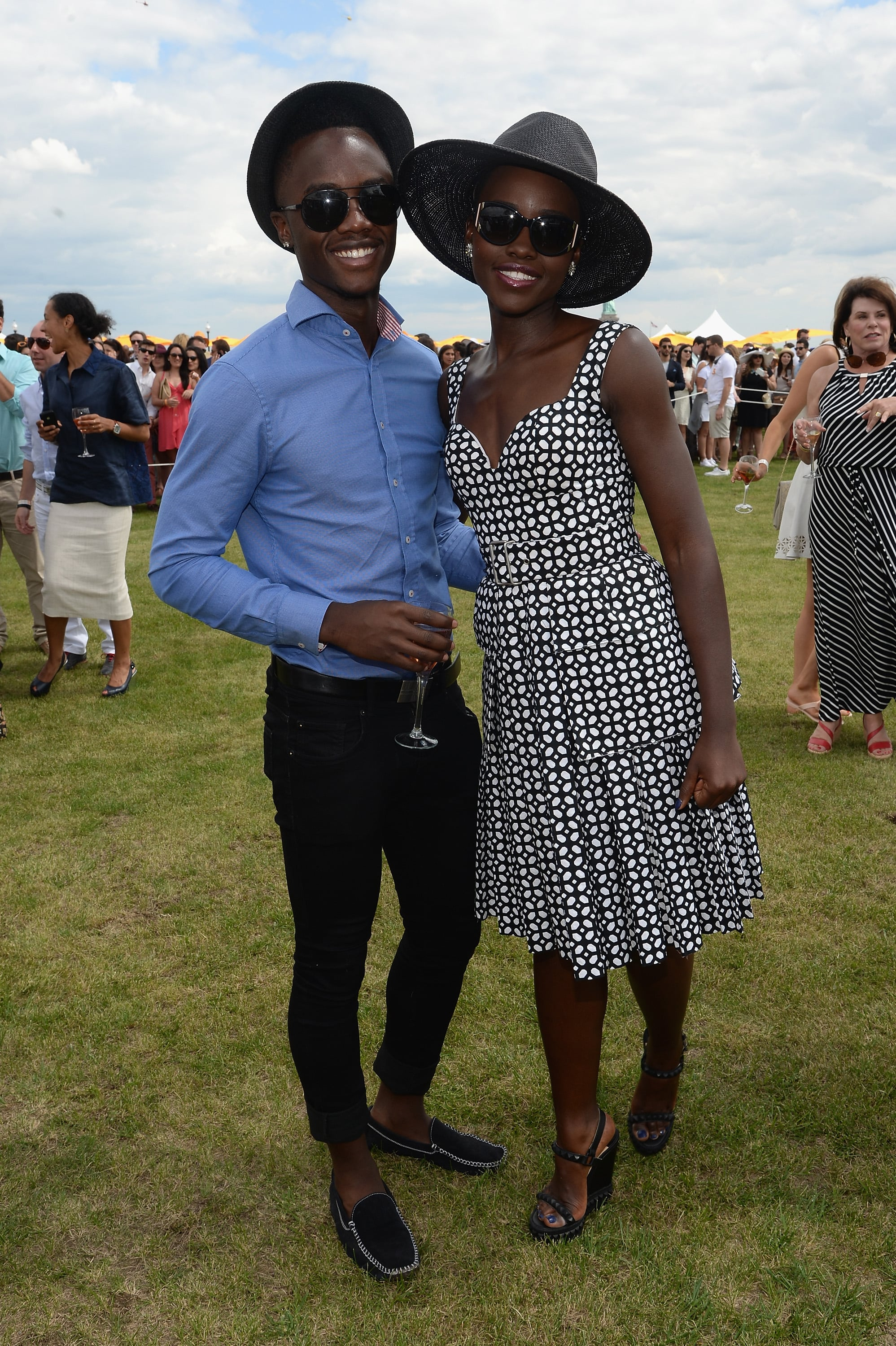 Peter Nyong'o, Lupita's brother, had the chance to add even more fun social snaps to his star-studded Instagram collection.