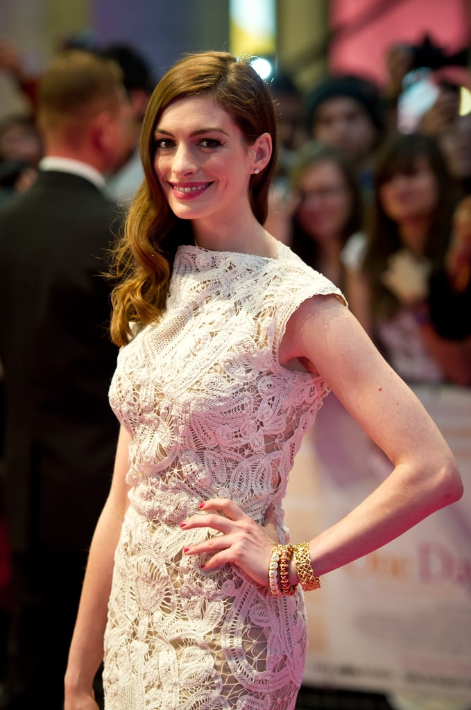 Anne Hathaway struck a pose in London.