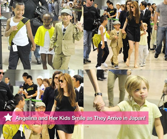 Pictures of Angelina Jolie, Shiloh Jolie-Pitt, Maddox Jolie-Pitt, Zahara Jolie-Pitt, and Pax Thien Jolie in Tokyo