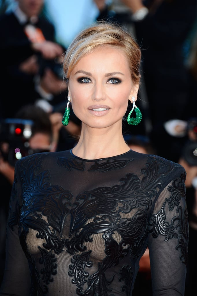 Adriana Karembeu also shone at the Cleopatra premiere. Wait until you see the back of her hair...