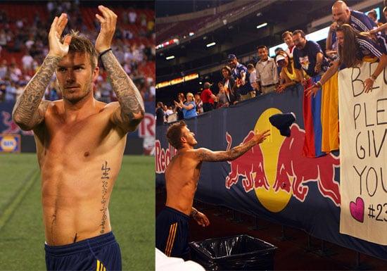 Shirtless Photos of David Beckham in New Jersey at LA Galaxy Game