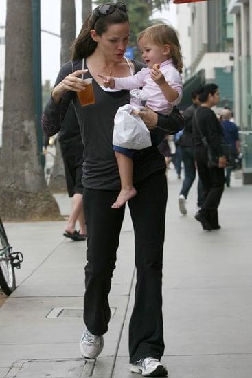 Pictures of Jennifer Garner and Seraphina Affleck in Santa Monica