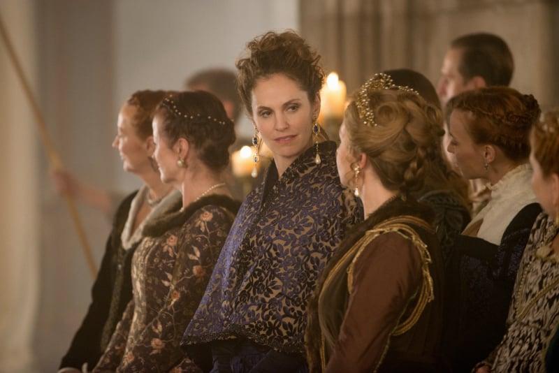 Amy Brenneman guest stars as Marie de Guise on Reign.