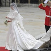 Kate Middleton Wears Alexander McQueen Wedding Dress