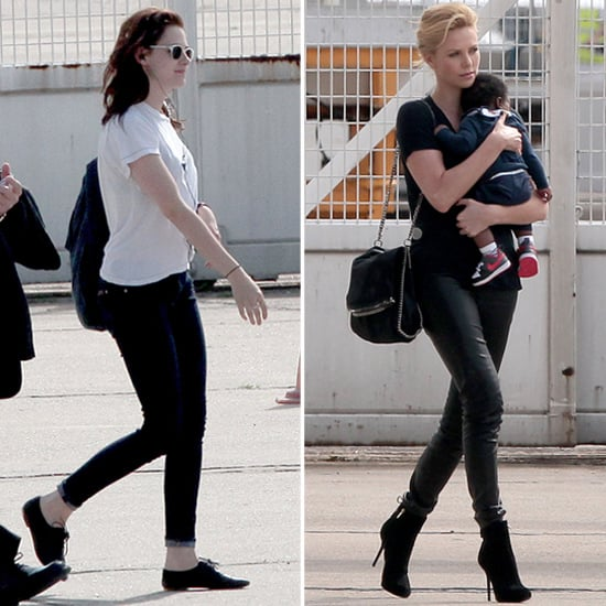 Kristen Stewart Heads to London With Charlize and Jackson Theron