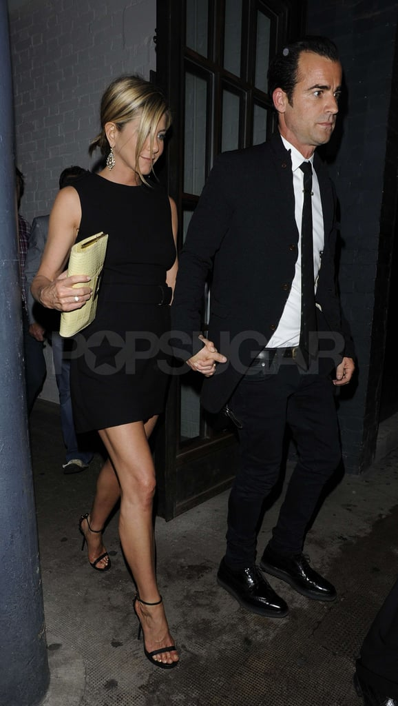 Jennifer and Justin matched in black.