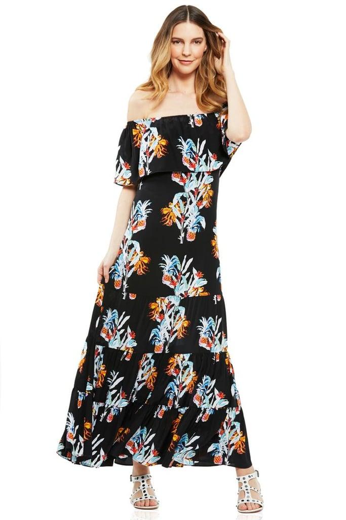Rebecca Minkoff Off the Shoulder Maxi Dress ($368)