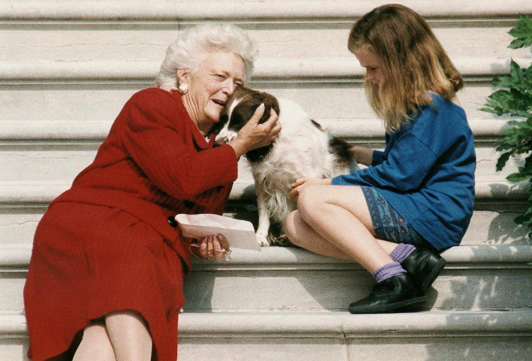 First Lady Barbara Bush and a Future First Daughter, 1991