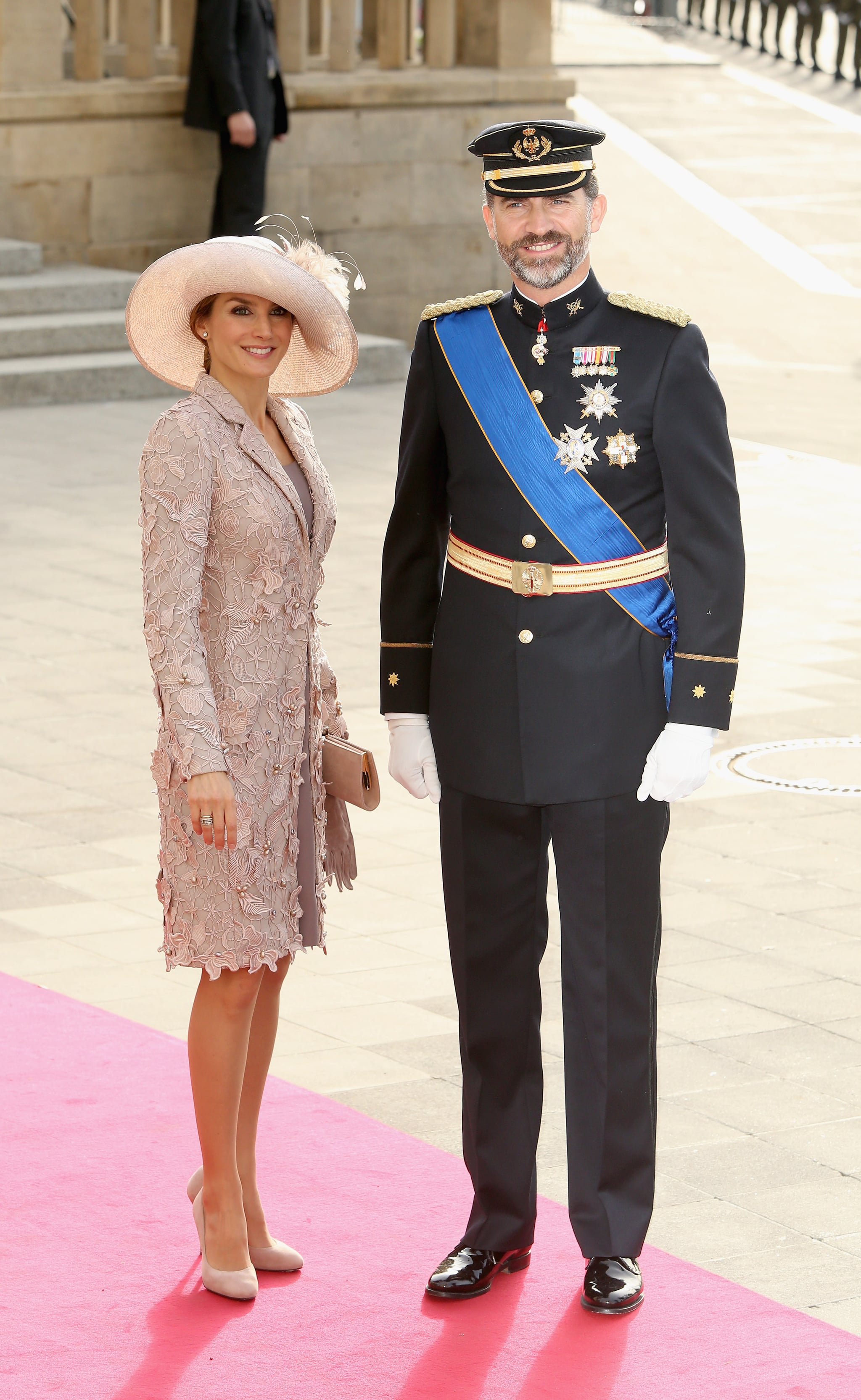 In October 2012, Letizia and Felipe attended the wedding of Princess Stephanie and Prince Guillaume of Luxembourg.
