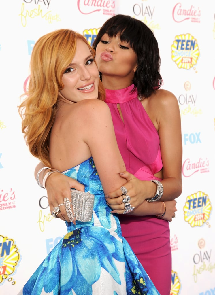 BFFs Bella Thorne and Zendaya got silly while posing for photos in 2014.