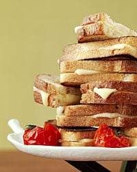 Three-Cheese Grilled Cheese Sandwiches
