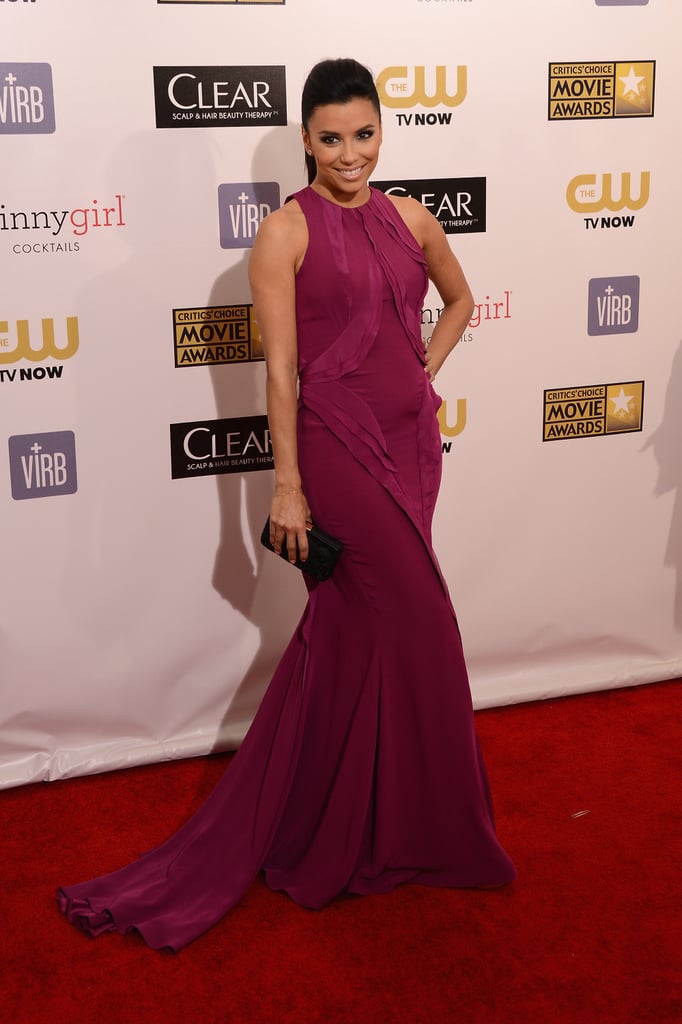 Eva Longoria had a smile on her face on the red carpet.