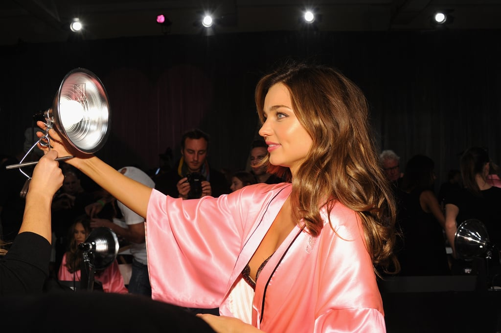 Miranda Kerr did a mirror check.