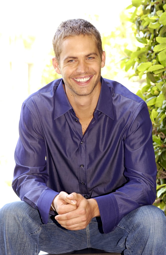 Paul was all smiles during a press conference in LA in May 2003.