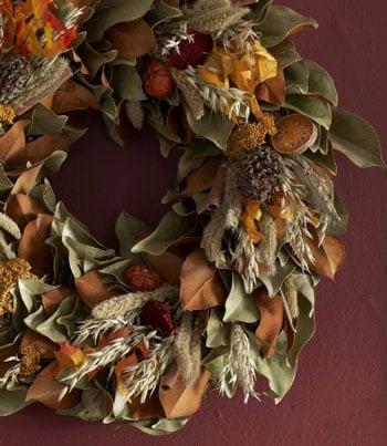 Unfussy Fall Wreaths