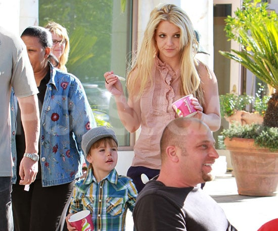 Slide Picture of Sean Preston and Britney Spears at Frozen Yogurt in LA