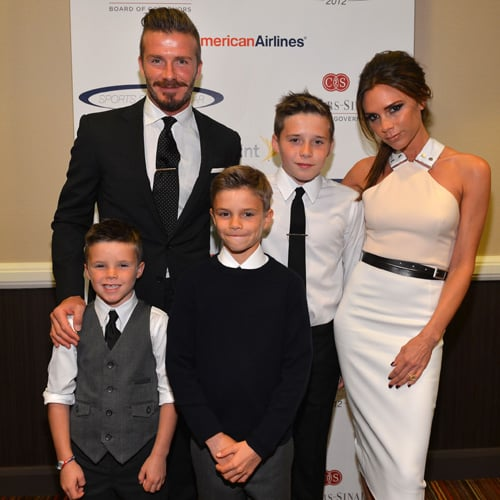 David and Victoria Beckham Pictures With Kids