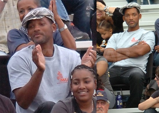 Photos of Will Smith Watching His Son Trey Smith's Football Game