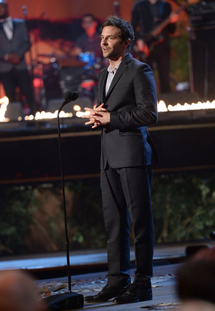 Bradley Cooper spoke onstage at the Guys Choice Awards.