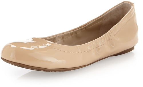 BCBGMAXAZRIA Molly1 Patent Leather Ballet Flat, Nude