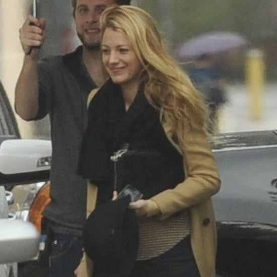 Blake Lively on Gossip Girl Set After Wedding
