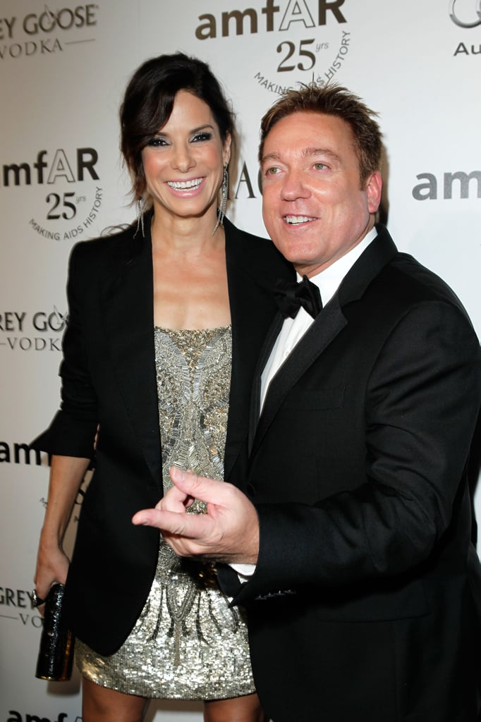 Sandra Bullock posed with her agent Kevin Huvane.