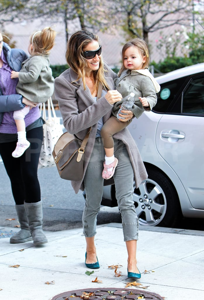 Sarah Jessica Parker and Tabitha Broderick took a morning walk with Loretta Broderick and her nanny.