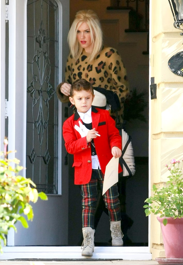 Gwen Stefani and Kingston Rossdale headed out for the day in LA.