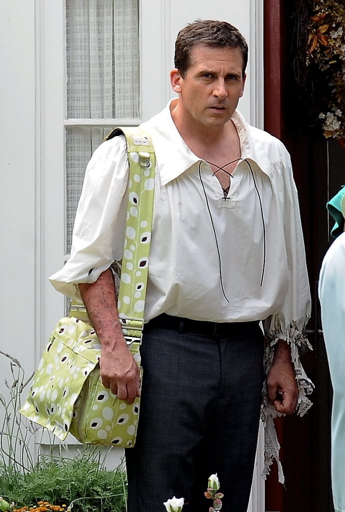Steve Carell wore a flowy shirt for Alexander and the Terrible, Horrible, No Good, Very Bad Day in LA on Thursday.