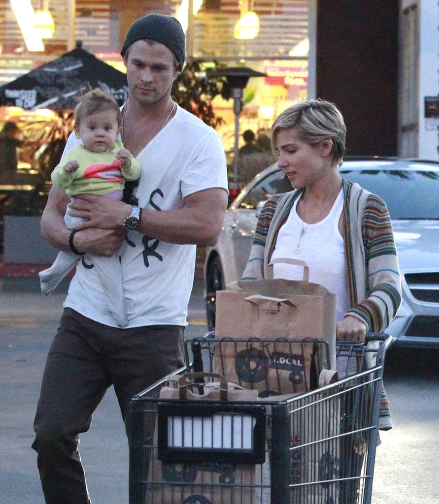 Chris Hemsworth held India for a trip to Whole Foods with wife Elsa Pataky.
