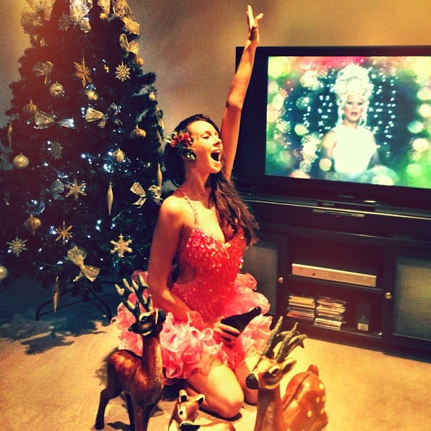 Ricki-Lee Coulter got into the Christmas spirit. Source: Instagram user therickilee