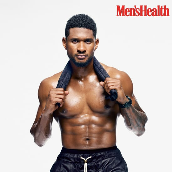 Usher on the Cover of Men's Health November 2013 Issue
