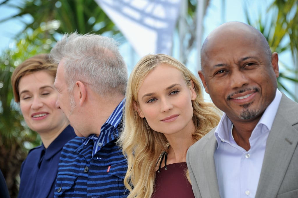 Raoul Peck, Diane Kruger, Jean Paul Gaultier, and Emmanuelle Devos linked up in Cannes for the jury photocall.