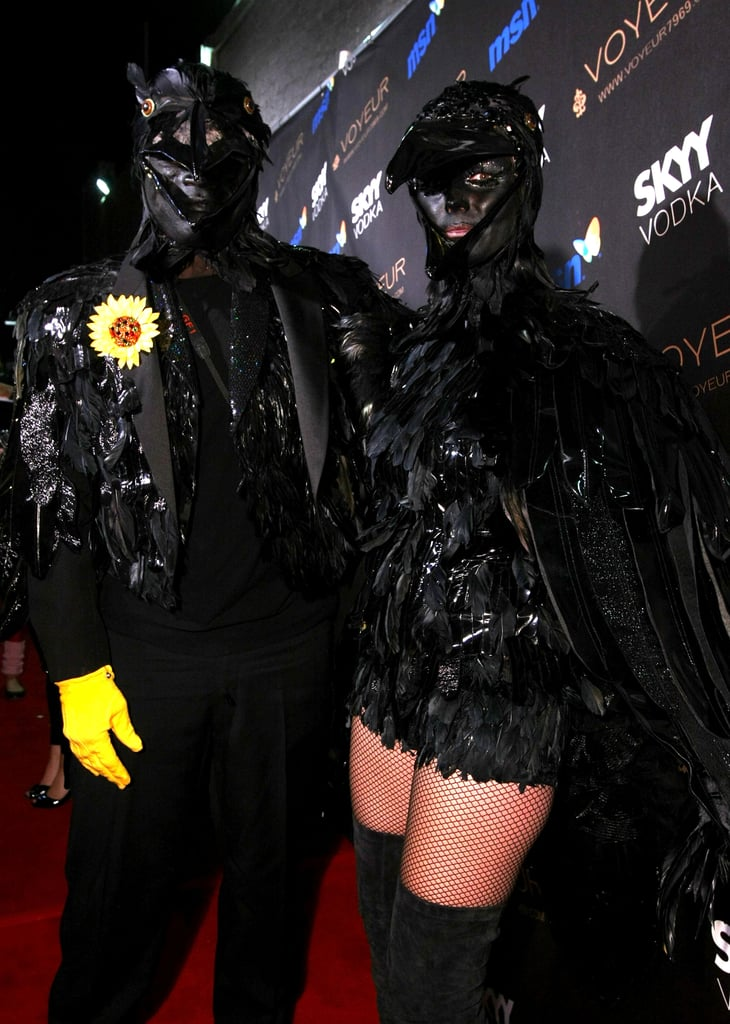 Heidi Klum and Seal dressed as birds for her 2009 Halloween party.