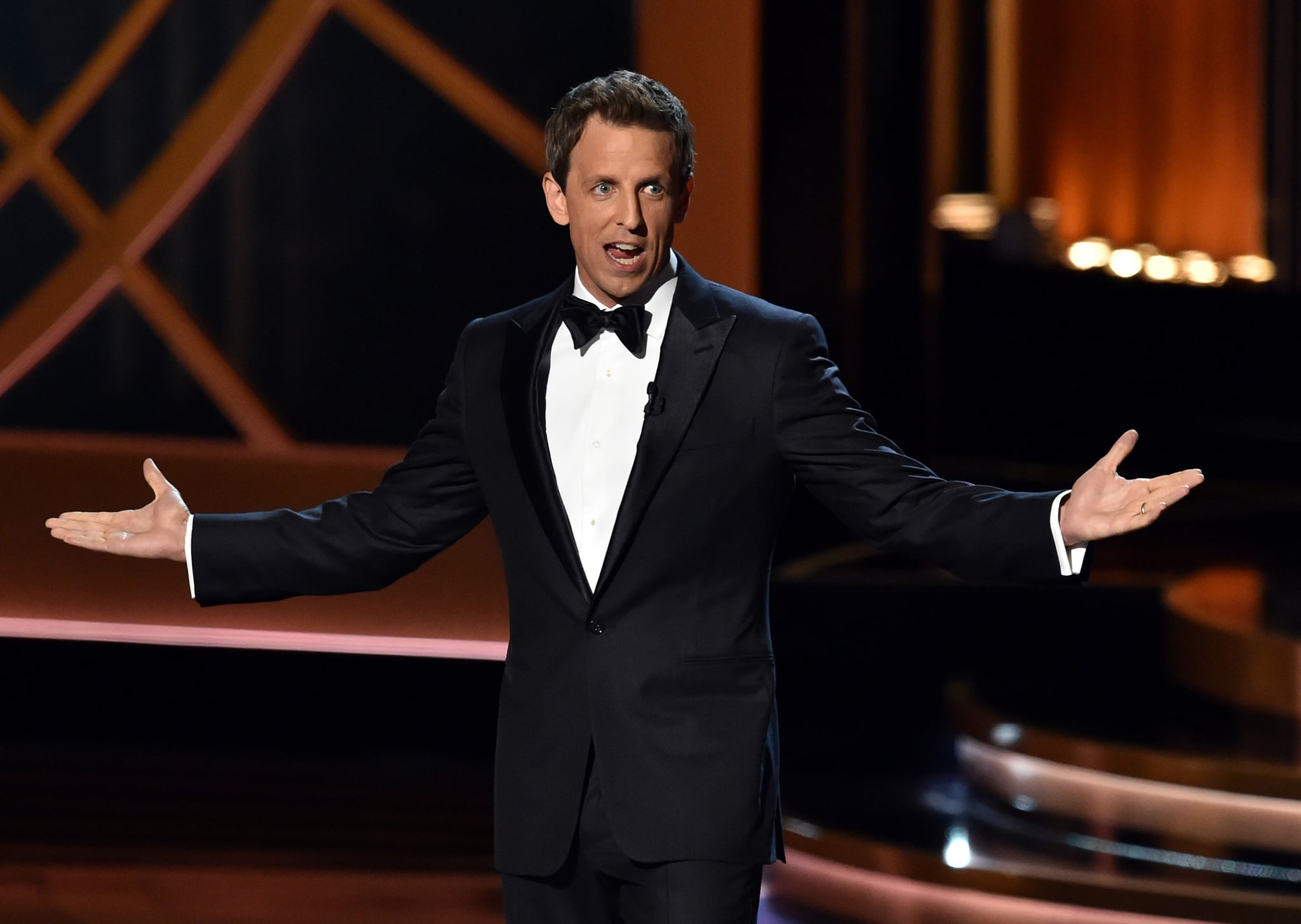Seth Meyers got big laughs.