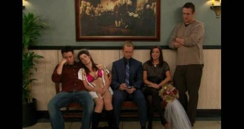 This may have been a clue: when Ted wishes the group could grow old together in an early episode, he and Robin are together.