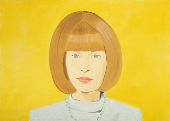 Alex Katz Paints Anna Wintour for National Portrait Gallery 2010