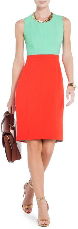 Your office look just got a serious upgrade, thanks to the colorblocking on this BCBG Max Azria Blaire sheath ($268).