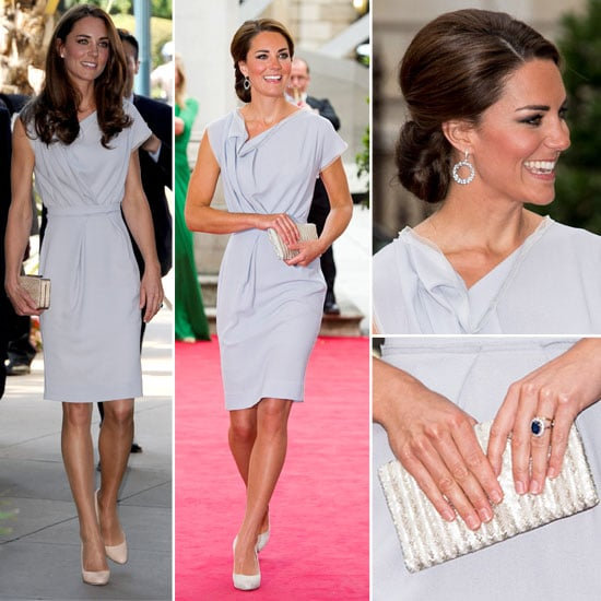 Pictures of Kate Middleton at the UK's Creative Industries Reception in London Wearing Roksanda Ilincic Dress, Again