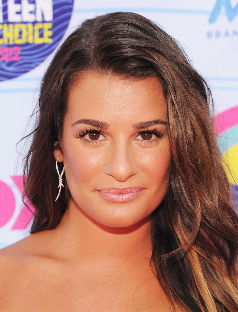 Lea Michele smiled at the Teen Choice Awards.