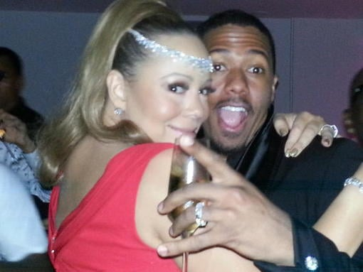 Mariah Carey and Nick Cannon celebrated New Year's Eve in Australia. Source: Twitter user MariahCarey