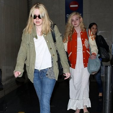 Dakota Fanning and Elle Fanning Pictures in LA After the Costume Institute Gala